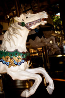 Color White Carousel Horse, #MIS14-4059c